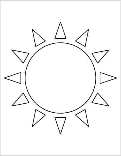 Sun Template Triangle Sun Ray