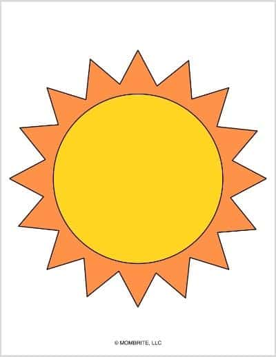 Sun Template Yellow and Orange