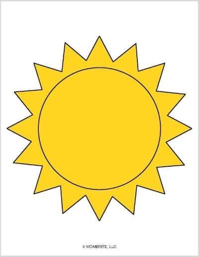 Sun Template Yellow