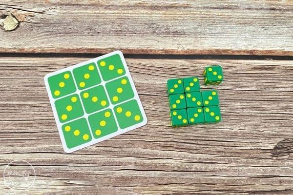 Tenzi Dice Game Puzzle Card