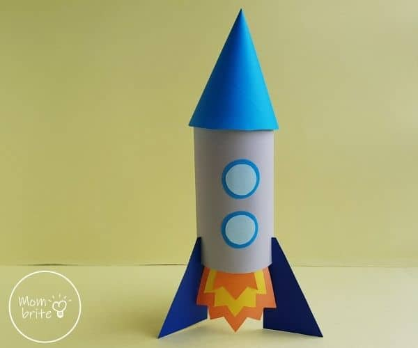 Toilet Paper Roll Rocket Craft for Kids