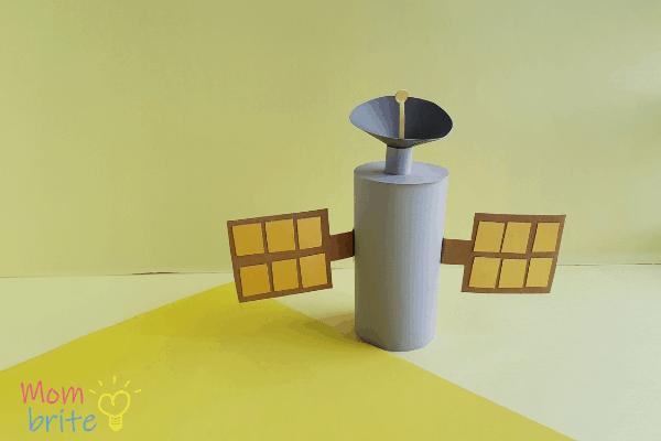 Toilet Paper Roll Satellite Craft