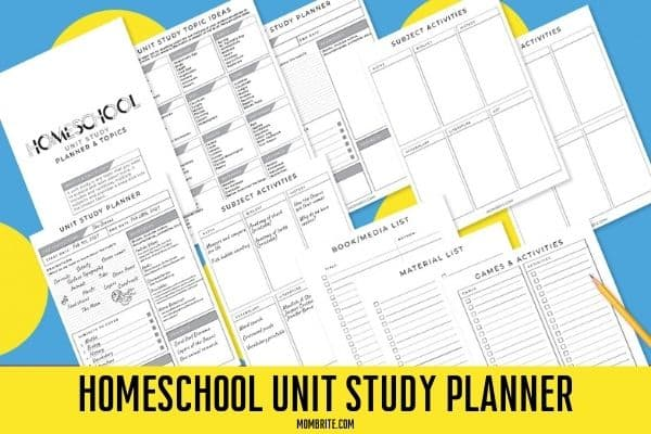 Unit Study Planner Printable