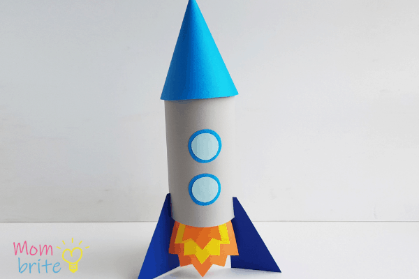 rocket made out of toilet paper roll
