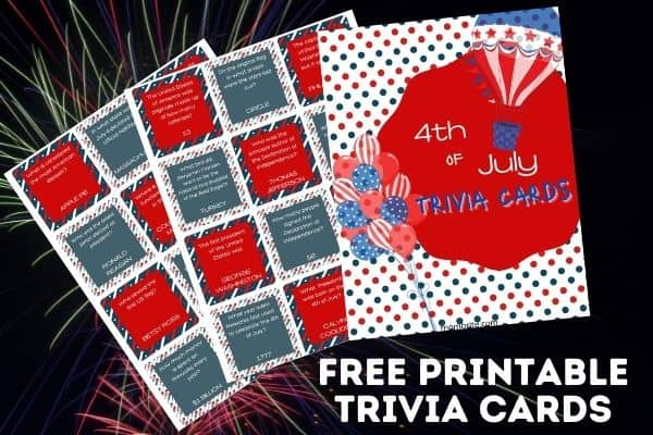 4th of July Trivia Cards Product Image