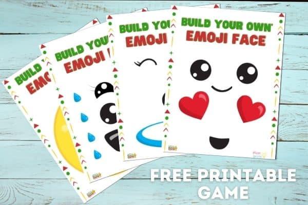 Build Your Own Emoji Face Mockup
