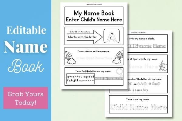 Editable Name Book Hero Image