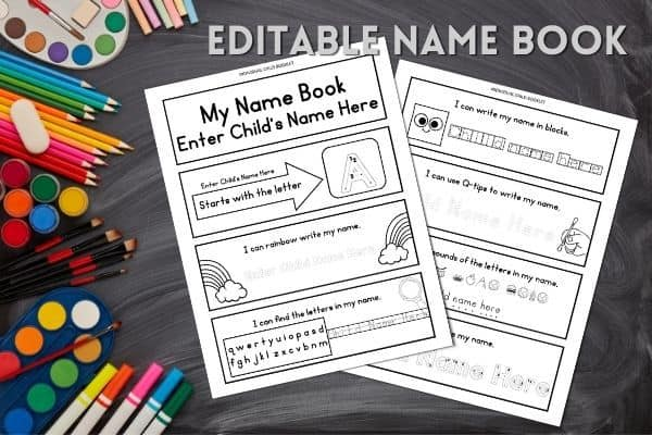 Editable Name Book - Name Recognition Activities