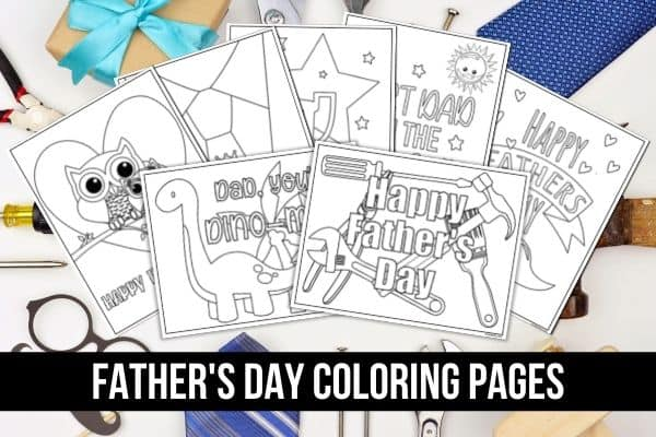 Father's Day Coloring Pages Mockup