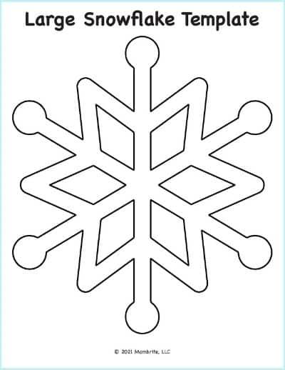 Large Snowflake Pattern Template