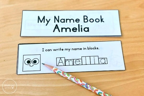 Name Recognition Activity Write Name