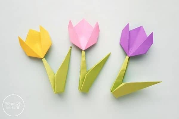 Origami Tulip Flowers