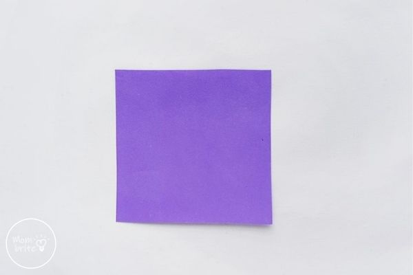 Origami Tulips Flower Square Piece of Paper