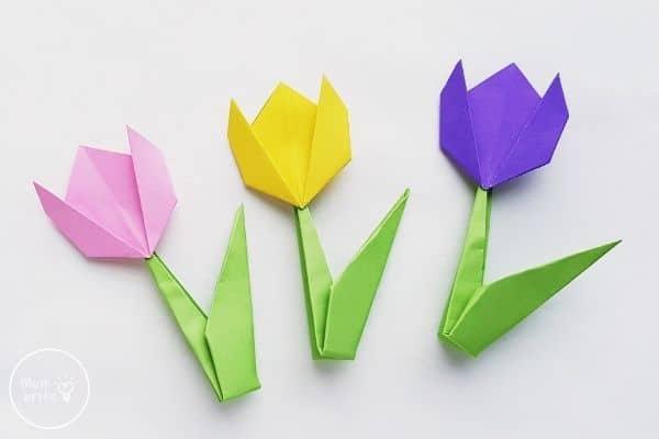 Origami Tulips Flowers