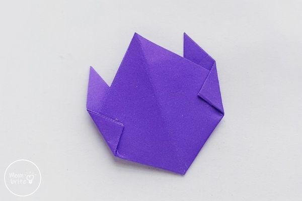 Origami Tulips Fold Sides