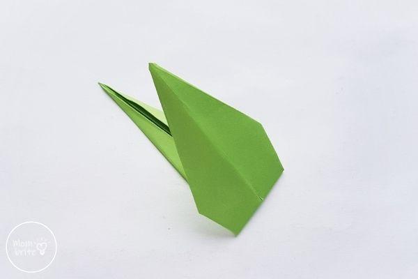 Origami Tulips Stem Fold Inward Toward the Center