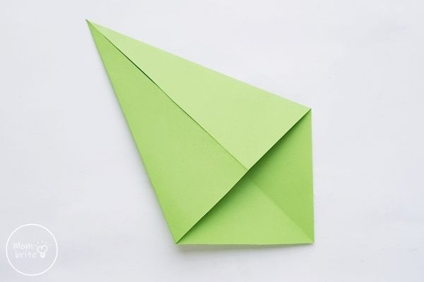 Origami Tulips Stem Fold Sides to the Middle