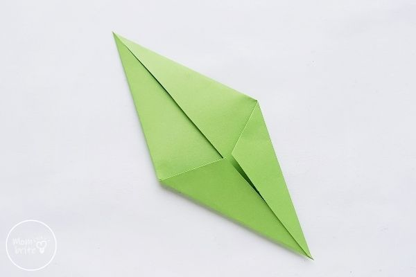 Origami Tulips Stem Fold the Other Side