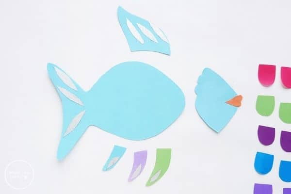 Paper Rainbow Fish Craft Create Tails and Fins