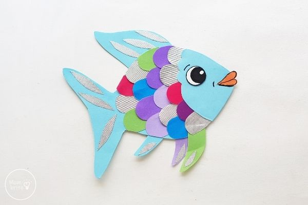 Paper Rainbow Fish Craft Glue Eye