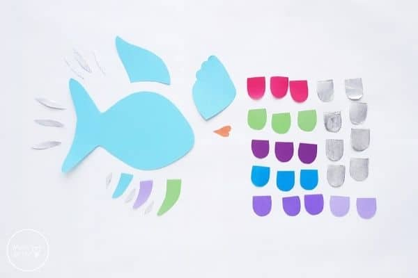 Paper Rainbow Fish Craft Template Patterns