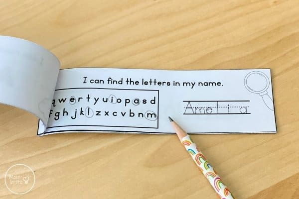 Printable Editable Name Book Circle Letters
