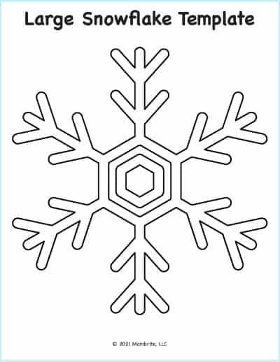 Snowflake Cut Out Pattern