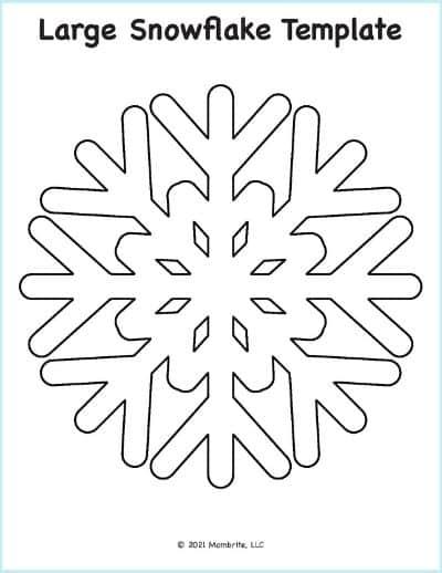 Snowflake Pattern Template
