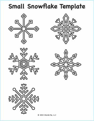 small snowflake template pattern