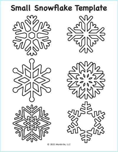 small snowflake template