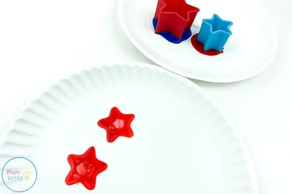 4th of July Patriotic Star Painting Stamp Cookie Cutters on Plate
