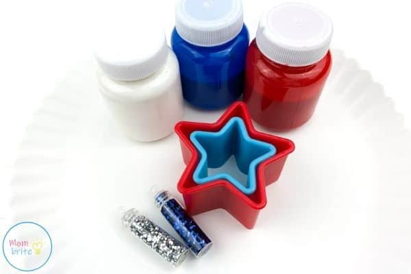 4th of July Star Painting Craft Materials