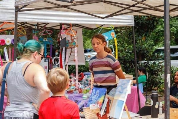 Acton Children's Business Fair Booth