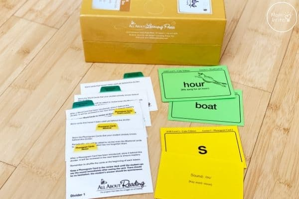 All About Reading Level 3 Review Box and Cards