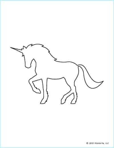 Bowing Unicorn Template