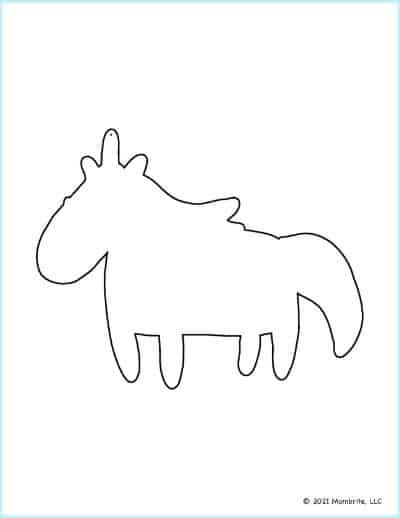 Cute Unicorn Outline