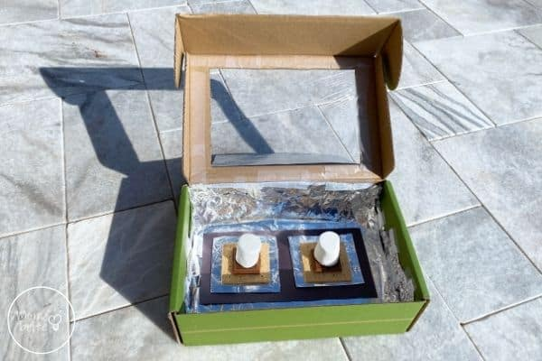 DIY Solar Oven Put S'mores in Box