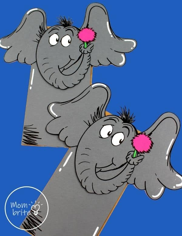 Dr. Seuss Horton Paper Bag Puppet