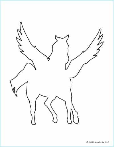 Front-Facing Unicorn Stencil Printable