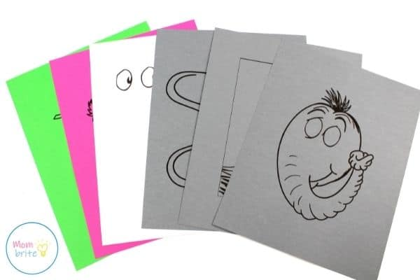 Horton Paper Bag Puppet Template Patterns
