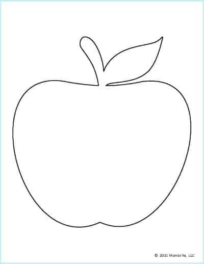 Large Apple Template 1