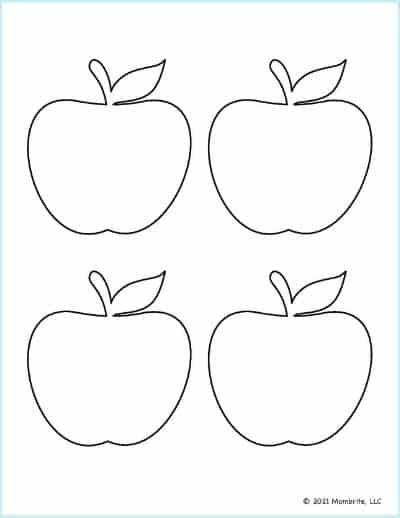 Medium Apple Template 1