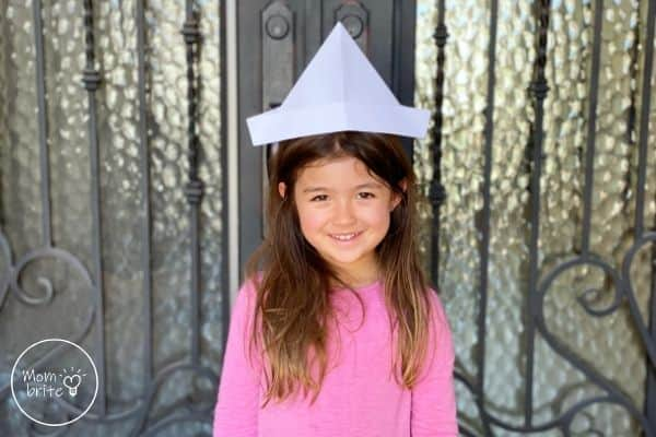Paper Hat on Girl