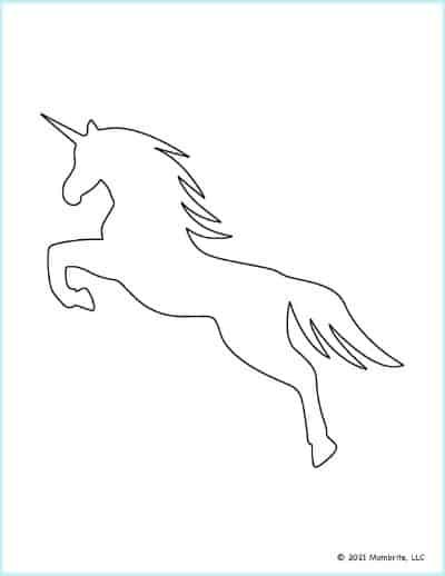 Rearing Unicorn Silhouette