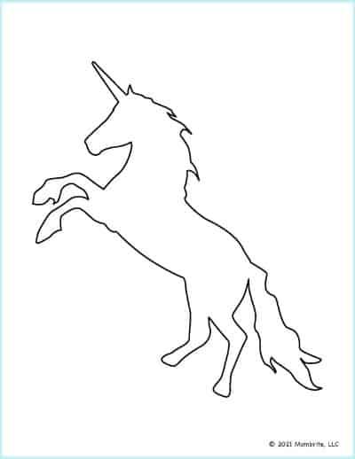 Rearing Unicorn Template