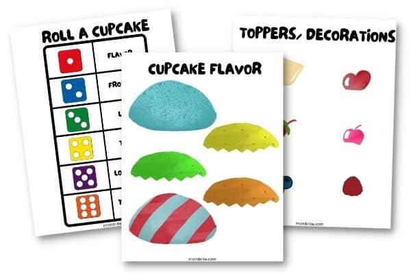 Roll a Cake Dice Game Free Printable