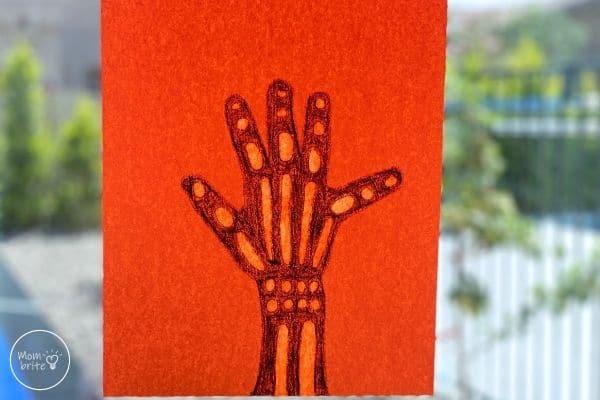 Skeleton Handprint X-Ray Craft