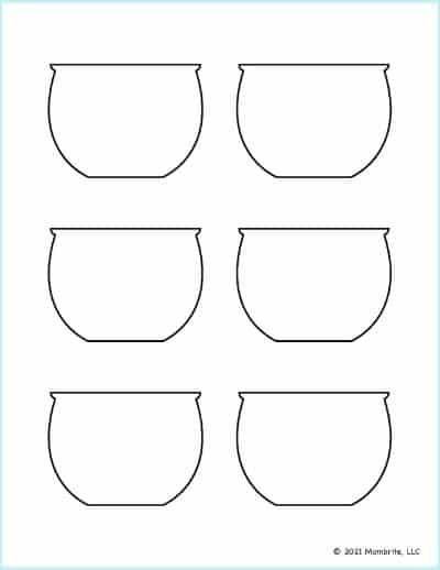 Small Fish Bowl Template 2