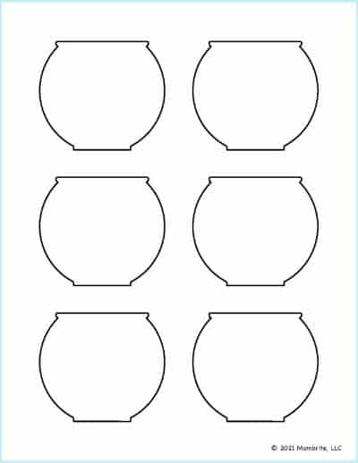 Small Fish Bowl Template 3