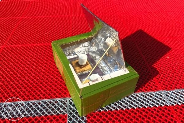 Solar Oven Cook Open S'more